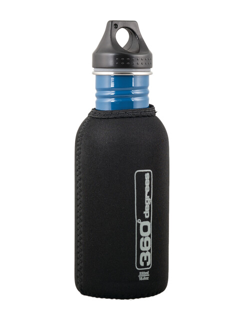 360° degrees Stainless Drink Bottle - 550ml negro